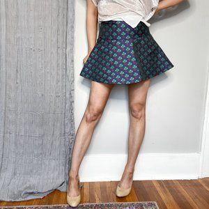 CLUB MONACO NWOT jacquard circle mini skirt 0851